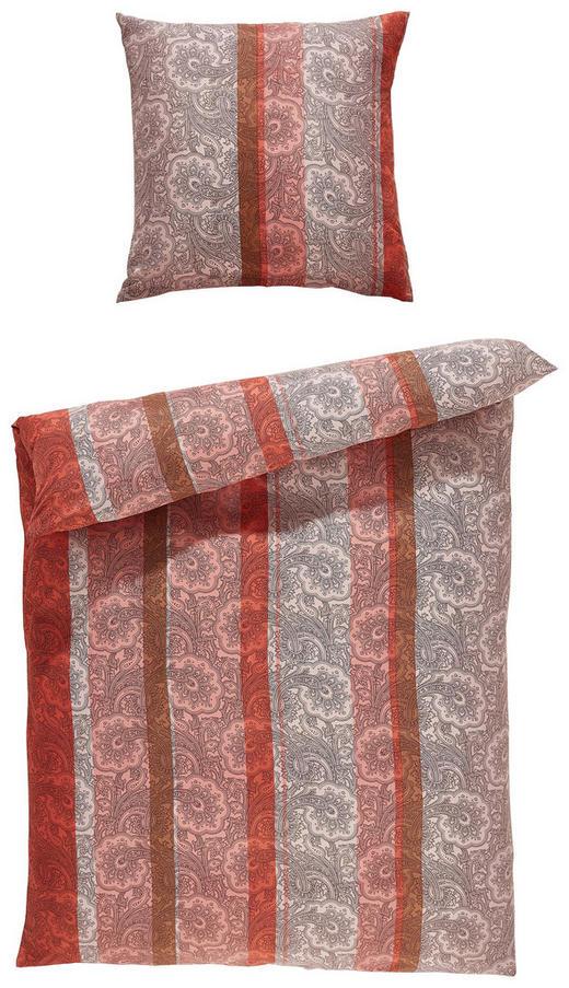 BETTWÄSCHE Mikrofaser Terra cotta 135/200 cm - Terra cotta, KONVENTIONELL, Textil (135/200cm) - Boxxx