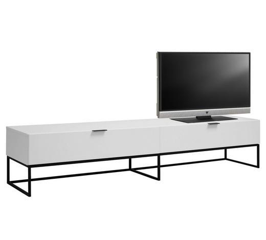 TV DÍL, bílá - bílá/černá, Design, kov/kompozitní dřevo (200/40/40cm) - Ambia Home
