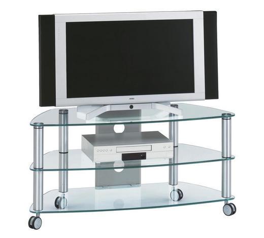 TV-RACK in Alufarben  - Alufarben, Design, Glas (95/53/52cm) - Xora