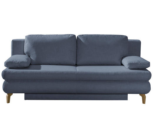Schlafsofa in Grau Textil   - Chromfarben/Grau, Design, Textil/Metall (200/91/92cm) - Novel