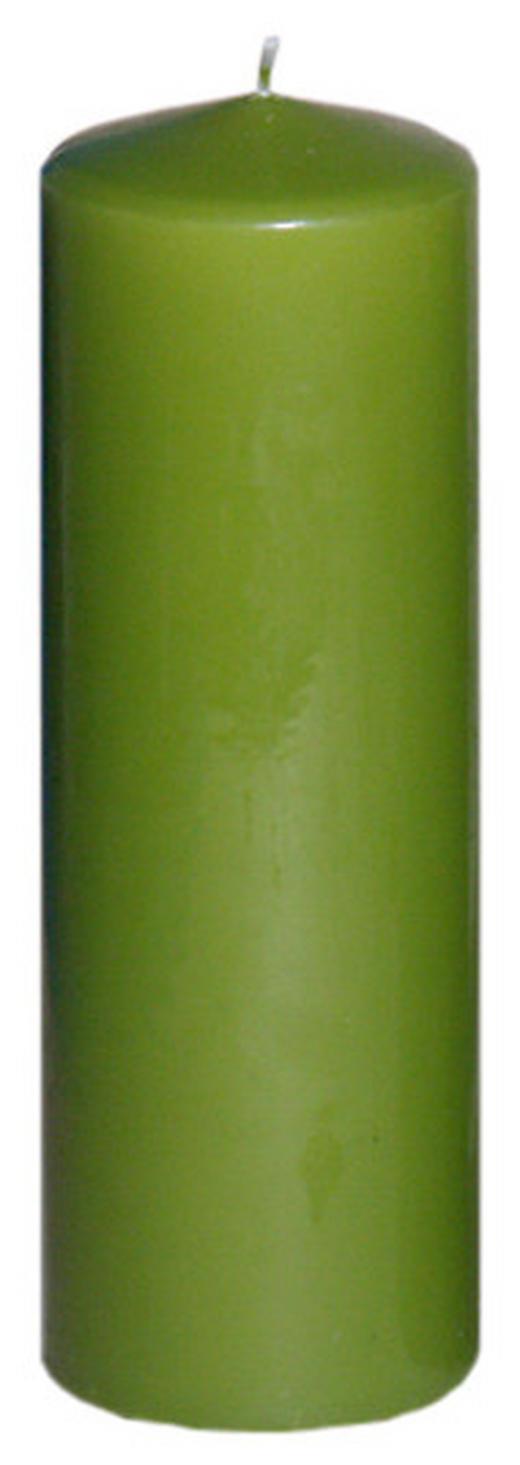 STUMPENKERZE 6,7/20 cm - Hellgrün, Basics (6,7/20cm) - Steinhart