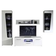 REGAL ZA DNEVNI BORAVAK - bijela/boje grafita, Design, staklo/drvni materijal (274,4/201/52cm) - Xora