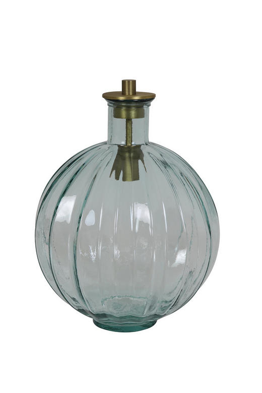 TISCHLEUCHTE - Silberfarben, Trend, Glas/Metall (33/33/46cm)