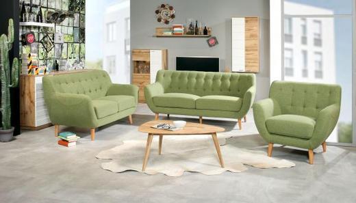 FOTELJA - zelena, Design, drvo/tekstil (84/79/82cm) - Ti`me