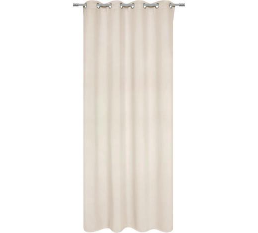 ZÁVĚS S KROUŽKY, black-out (nepropouští světlo), 140/245 cm - šampaňská, Basics, textil (140/245cm) - Esposa