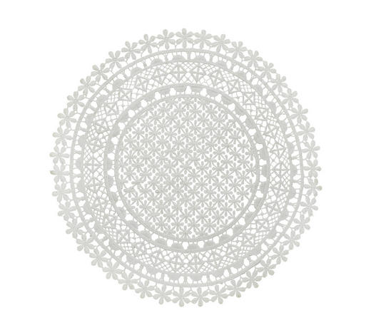PLATZDECKCHEN Textil - Weiß, Trend, Textil (36cm) - Ambia Home