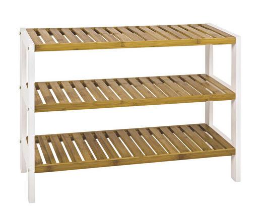 REGAL Bambus massiv Naturfarben, Weiß - Naturfarben/Weiß, Design, Holz/Holzwerkstoff (70/54/26cm)