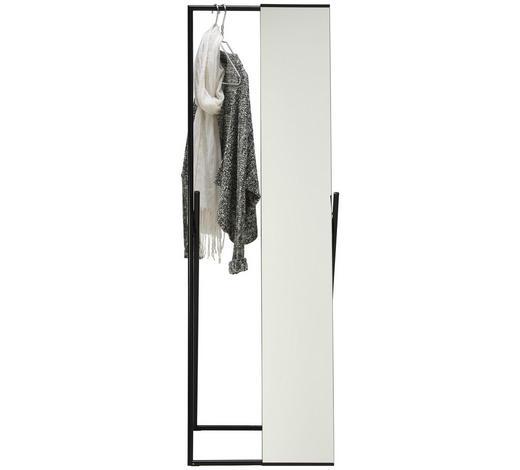 Standspiegel - Schwarz, Design, Glas/Metall (50/158/46cm) - Carryhome