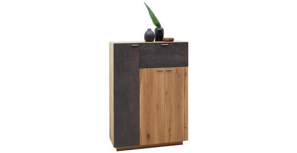 HIGHBOARD 96/135,5/38 cm - Eichefarben/Alufarben, KONVENTIONELL, Holz/Holzwerkstoff (96/135,5/38cm) - Voleo