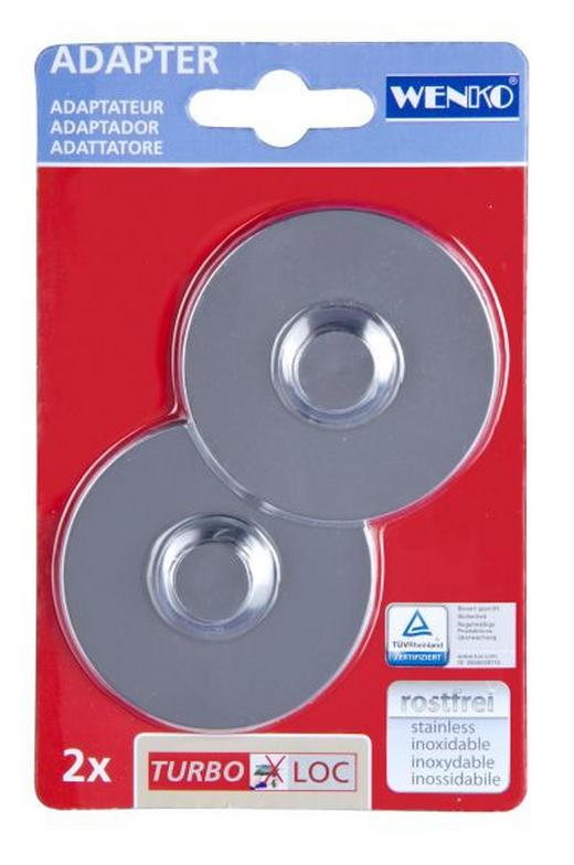 MONTAGEPLATTEN - Chromfarben, Basics, Kunststoff (6,1/1,4cm)