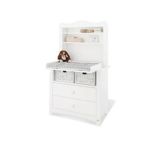 WICKELKOMMODE Pinolino Florentina Weiß  - Weiß/Rosa, Basics, Holz/Kunststoff (103/180/77 bzw 57cm)