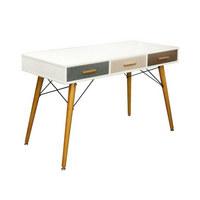 PISAĆI STOL - bijela/siva, Moderno, drvni materijal/drvo (120/74/55cm) - Xora