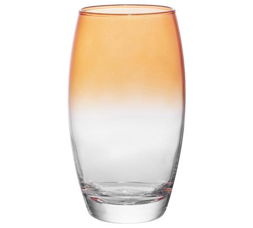 LONGDRINKGLAS 510 ml - Klar/Orange, Trend, Glas (6,6/14,5cm) - Homeware