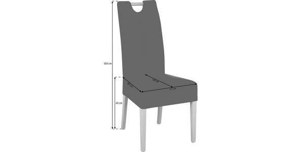 STUHL in Holz, Textil Buchefarben, Schlammfarben - Schlammfarben/Buchefarben, KONVENTIONELL, Holz/Textil (47/103/60cm) - Cantus