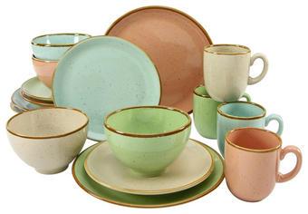 Steingut  KOMBISERVICE 16-teilig - Multicolor, KONVENTIONELL, Keramik - Creatable