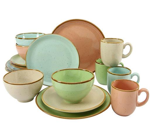 KOMBISERVICE RUSTICA 16-teilig  - Multicolor, Trend, Keramik - Creatable
