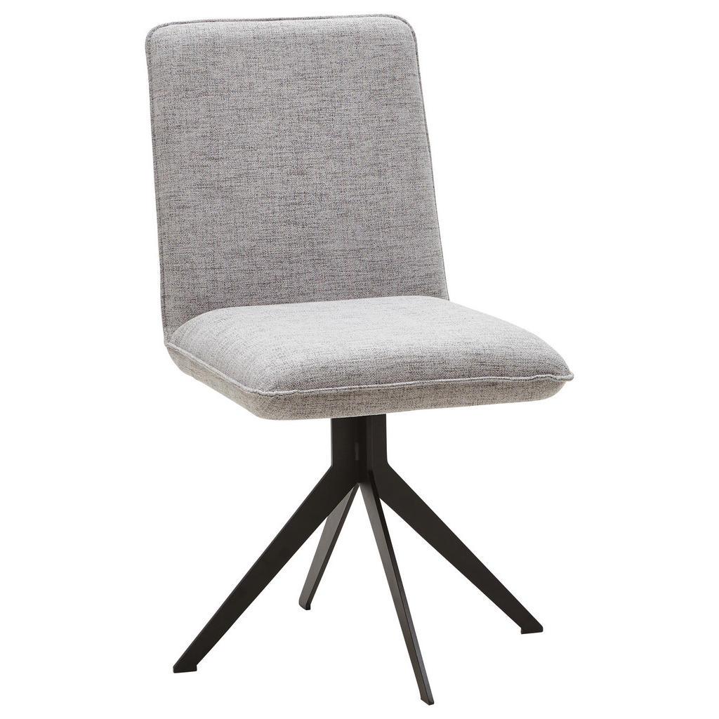 Voleo Stuhl webstoff grau, schwarz , Malibu , Metall, Textil , matt,Webstoff , Stoffauswahl , 002768009311