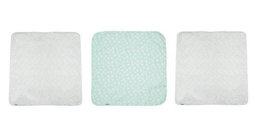 Muslin Tücher 3er Set - Türkis/Gelb, Textil (70/70/0.3cm) - Bebe Jou