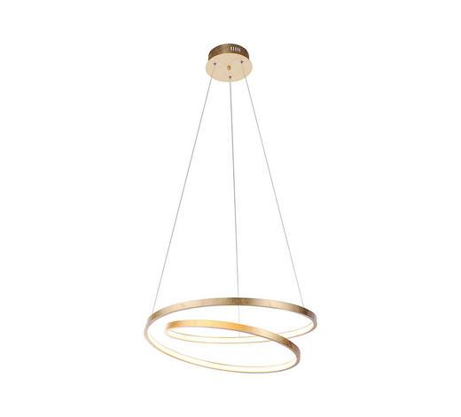 LED-HÄNGELEUCHTE - Goldfarben, Design, Metall (55/55/120cm)