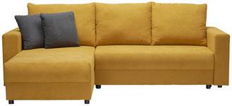 WOHNLANDSCHAFT in Dunkelgrau, Gelb Textil - Dunkelgrau/Gelb, Design, Kunststoff/Textil (176/246cm) - Xora