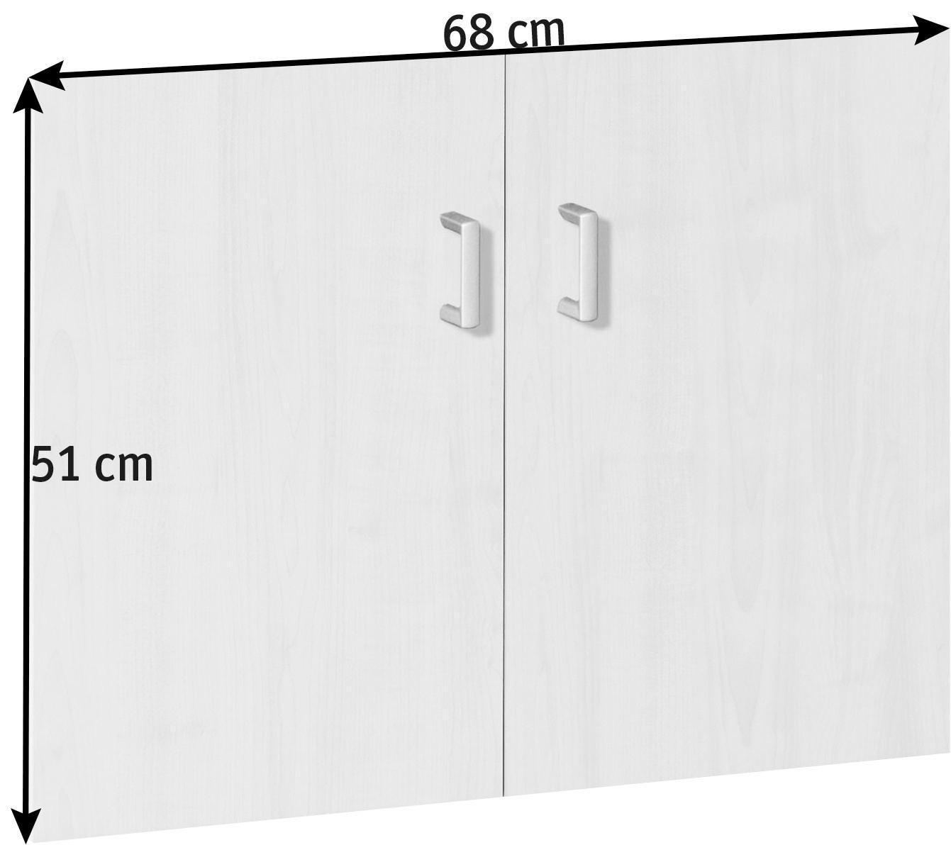 TÜRENSET 68/51/3 cm Ahornfarben - Silberfarben/Ahornfarben, Design, Kunststoff (68/51/3cm) - CS SCHMAL