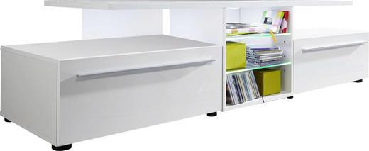 TV-ELEMENT Weiß - Silberfarben/Schwarz, Design, Holzwerkstoff/Kunststoff (160/42/50cm) - Carryhome