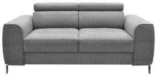 ZWEISITZER-SOFA Webstoff Grau - Chromfarben/Grau, Design, Textil/Metall (168/76-96/98cm) - Hom`in