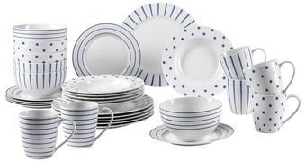 KOMBI SERVIS - bijela/plava, Lifestyle, keramika - Ritzenhoff Breker