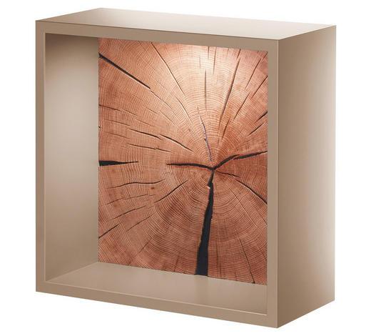 WANDREGAL - Taupe/Eichefarben, Design, Holz/Holzwerkstoff (37,5/37,5/20cm)