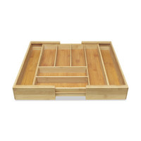 ULOŽAK ZA PRIBOR ZA JELO - prirodne boje, Konvencionalno, drvo (35-58/43/6cm) - Homeware