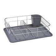 GESCHIRRABTROPFKORB - Silberfarben/Grau, Basics, Kunststoff/Metall (39,5/12,5/32cm) - Justinus