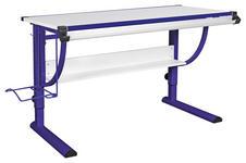 JUGENDSCHREIBTISCH in Holzwerkstoff 118/60/60 cm  - Blau/Weiß, Basics, Holzwerkstoff/Metall (118/60/60cm) - Carryhome