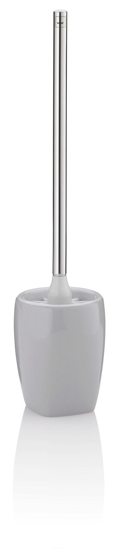 WC-BÜRSTENGARNITUR - Edelstahlfarben/Grau, KONVENTIONELL, Keramik/Kunststoff (12/12/45cm)