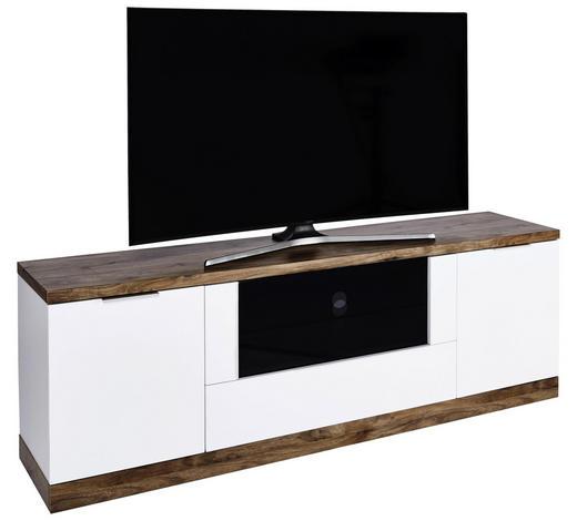 TV-ELEMENT 180/61,5/39 cm  - Eichefarben/Alufarben, Design, Glas/Holzwerkstoff (180/61,5/39cm)