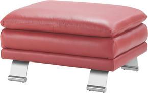 PALL - röd/alufärgad, Design, metall/läder (84/46/70cm) - Celina Home