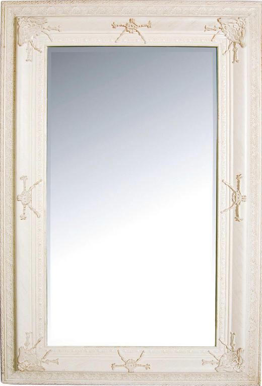 WANDSPIEGEL Paulownia - Weiß, Trend, Glas/Holz (90/120/4,5cm)