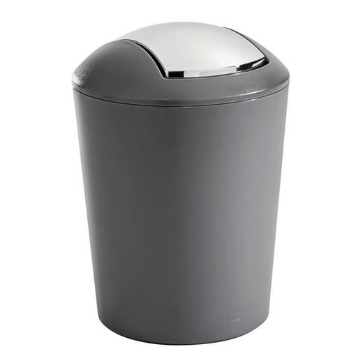 TISCHABFALLEIMER 1,7 L - Chromfarben/Grau, Basics, Kunststoff (15/21cm) - Kela