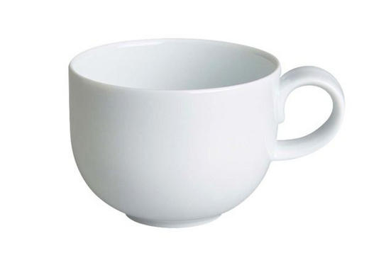 Kaffeetasse - Weiß, Basics, Keramik (0,2l) - Novel