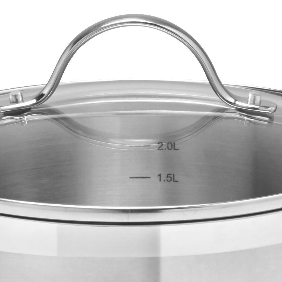 KASTRULLSET - klar/rostfritt stål-färgad, Klassisk, metall/glas - Homeware Profession.