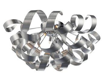 LED STROPNÍ SVÍTIDLO - barvy hliníku, Design, kov (70/40cm) - Ambiente