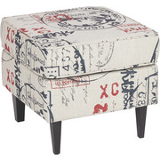 TABURET - barvy wenge/Multicolor, Lifestyle, dřevo/textil (49/44/49cm) - Carryhome