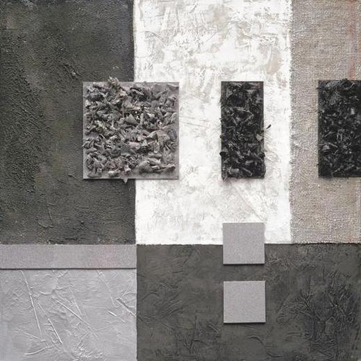 Abstraktes ORIGINALBILD - Multicolor, Basics, Holz/Textil (80/80/3,80cm) - EUROGRAPHICS