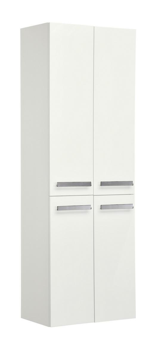 HOCHSCHRANK Weiß - Chromfarben/Weiß, KONVENTIONELL, Glas/Holzwerkstoff (60/168/33cm) - Xora