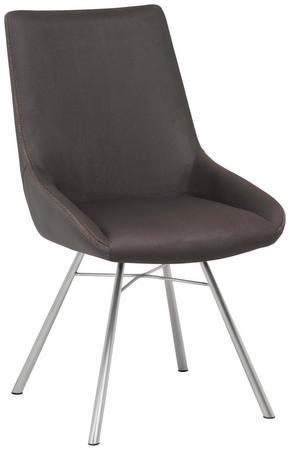 STOL - mörkgrå/grå, Design, metall/textil (52,5/91,5/65,5cm) - Novel