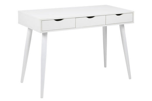 PISAĆI STOL - bijela, Design, drvni materijal/metal (110/77,1/50cm) - Carryhome