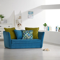 JUGEND- UND KINDERSOFA in Textil Blau, Grün - Blau/Schwarz, Design, Kunststoff/Textil (145/63-77/75cm) - Ti`me