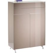 HIGHBOARD lackiert Braun - Alufarben/Braun, Design, Metall (101/144/46cm) - Joop!