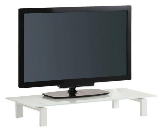TV-AUFSATZ  Glas, Metall  Weiß - Weiß, Basics, Glas/Metall (82/12,5/35cm)