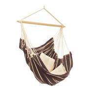 FOTELJA VISEĆA - tamno smeđa/prirodne boje, Konvencionalno, drvo/tekstil (160/130cm) - Ambia Garden