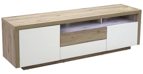 LOWBOARD 160/50/40 cm  - Eichefarben/Weiß, KONVENTIONELL, Holzwerkstoff (160/50/40cm) - Carryhome